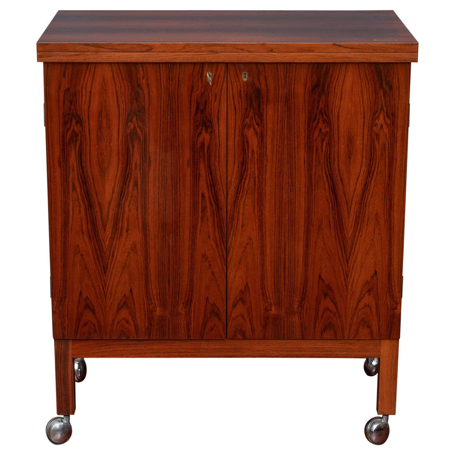 Scandinavian Modern Rosewood Bar Cabinet by Torbjorn Afdal for Bruskbo