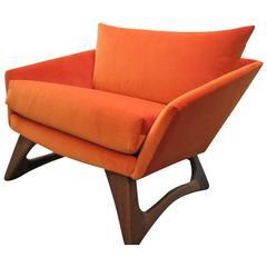 Scrumptious Adrian Pearsall Angular Sculptural Walnut Lounge Chair Mid-Century