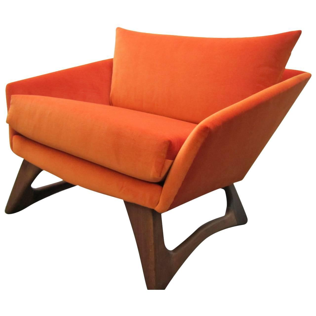 Scrumptious adrian pearsall angular sculptural walnut lounge chair mid century for sale at 1stdibs