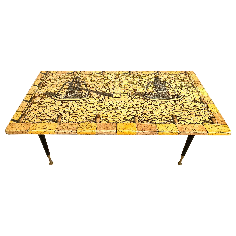 1950s Coffee Table by Piero Fonasetti
