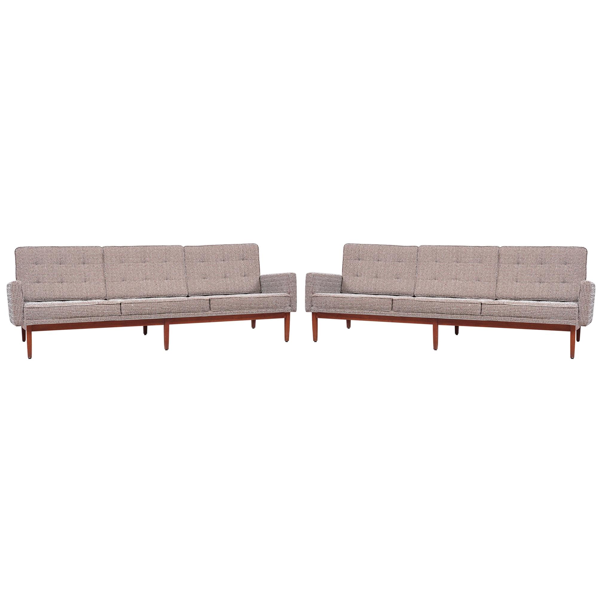 Pair of Florence Knoll 57W Sofas by Knoll Associates 1950s, US