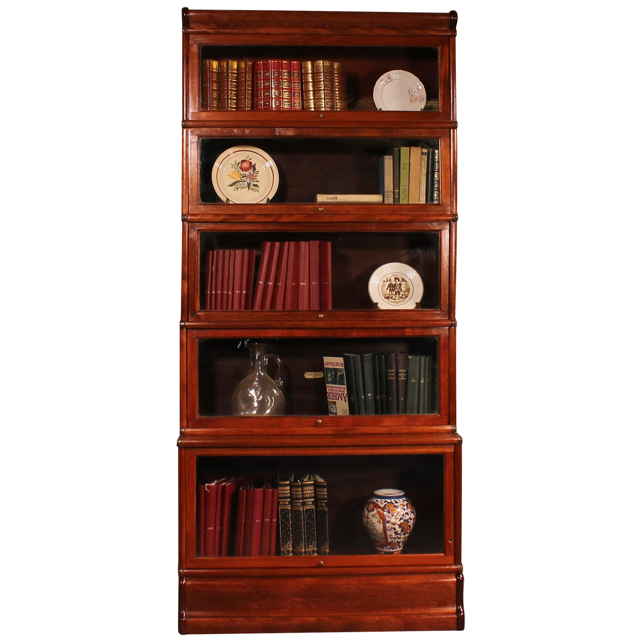 English Stacking Bookcase in Mahogany Globe Wernicke of 5 Elements
