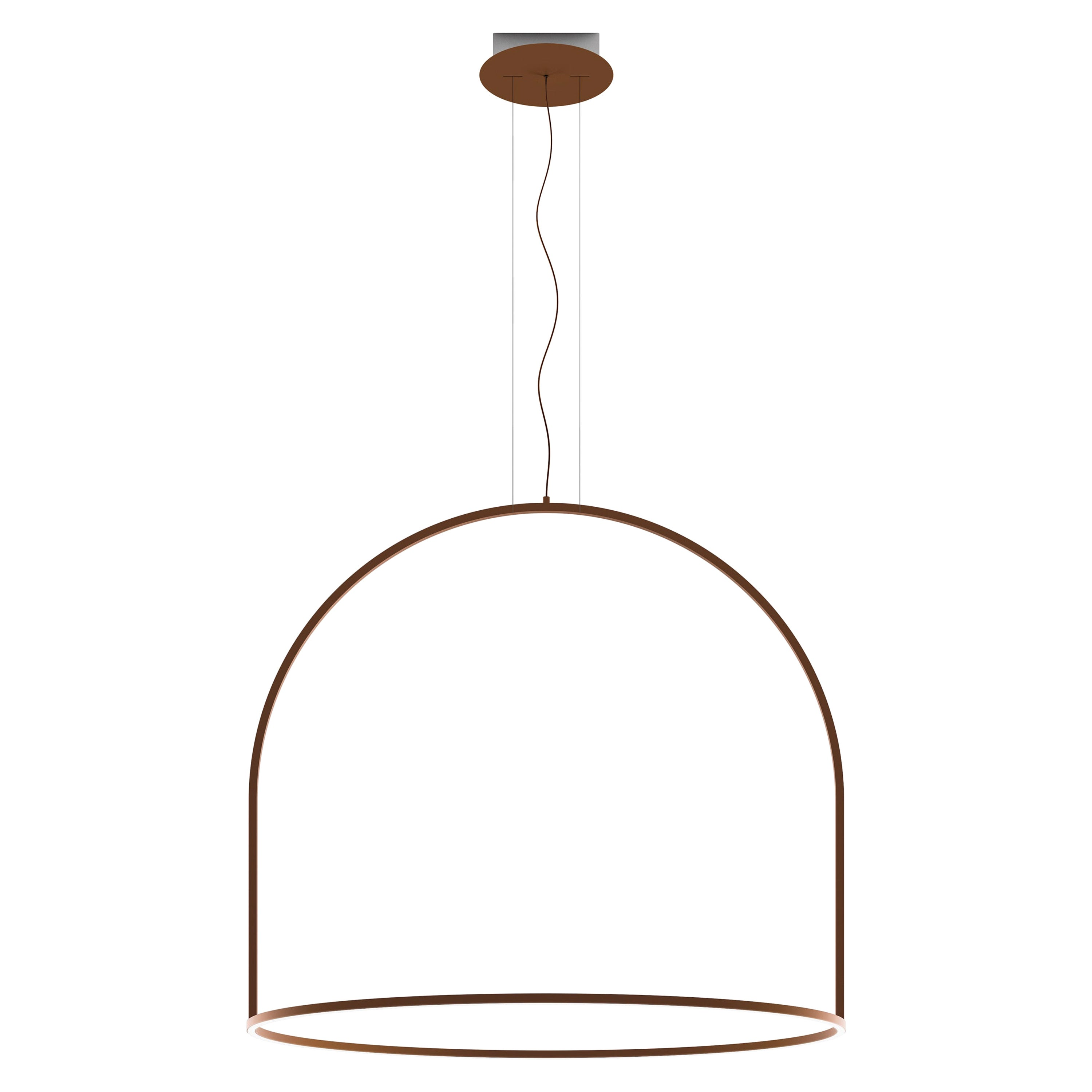 U-Light Modern Italian LED Ring Pendant with Arch by Axolight, Large