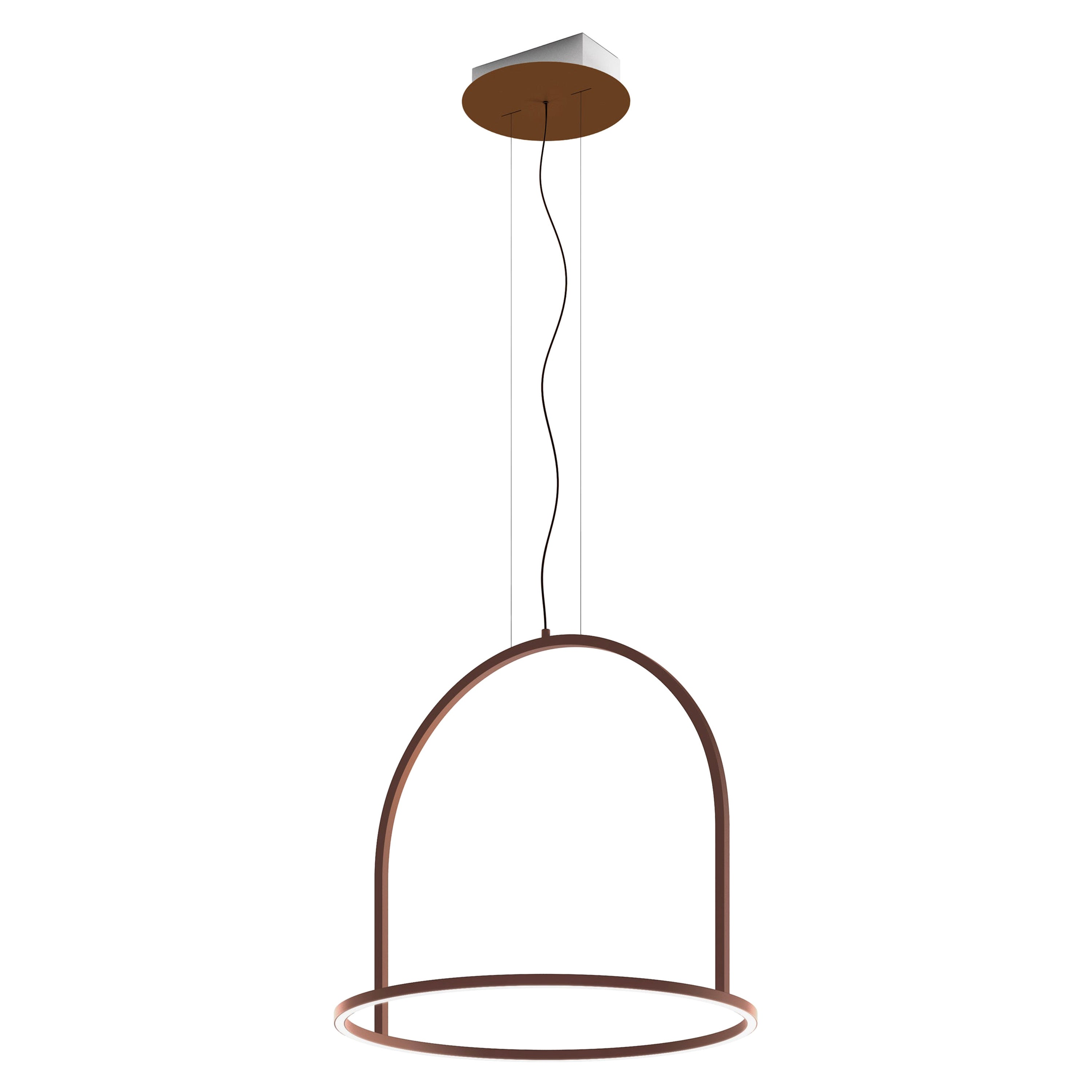 U-Light Modern Italian LED Ring Pendant with Arch by Axolight, Small
