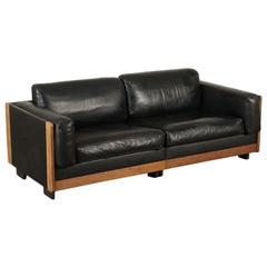 Sofa Foam Wood Leather 1960s-1970s Afra & Tobia Scarpa for Cassina