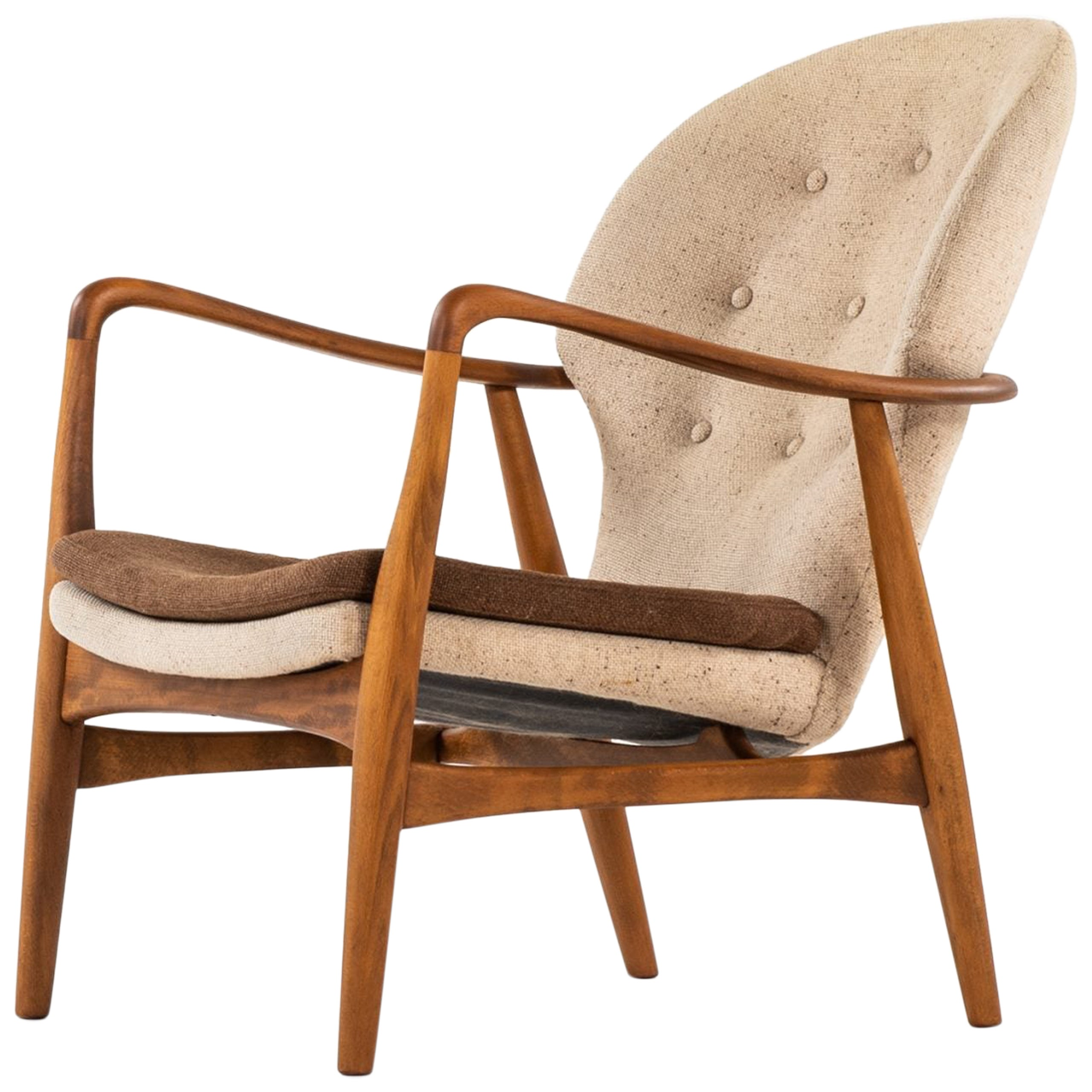 Ib Madsen & Acton Schubell Easy Chair Produced by Madsen & Schubell in Denmark