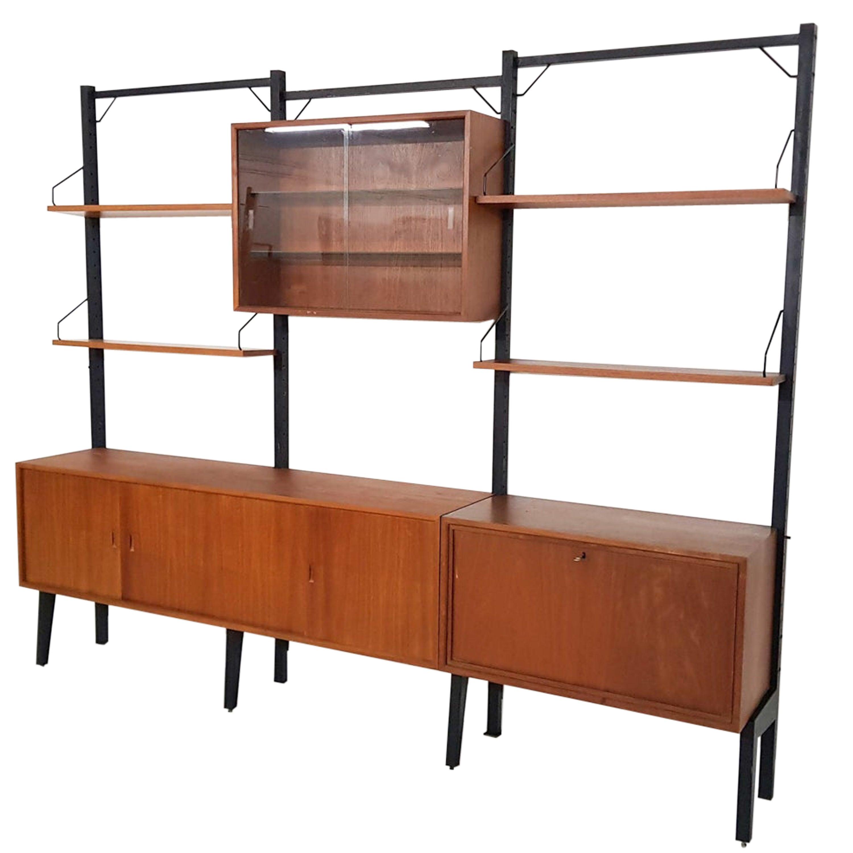 Poul Cadovius for Royal System Wall System Book Shelves in Teak, Denmark, 1950s