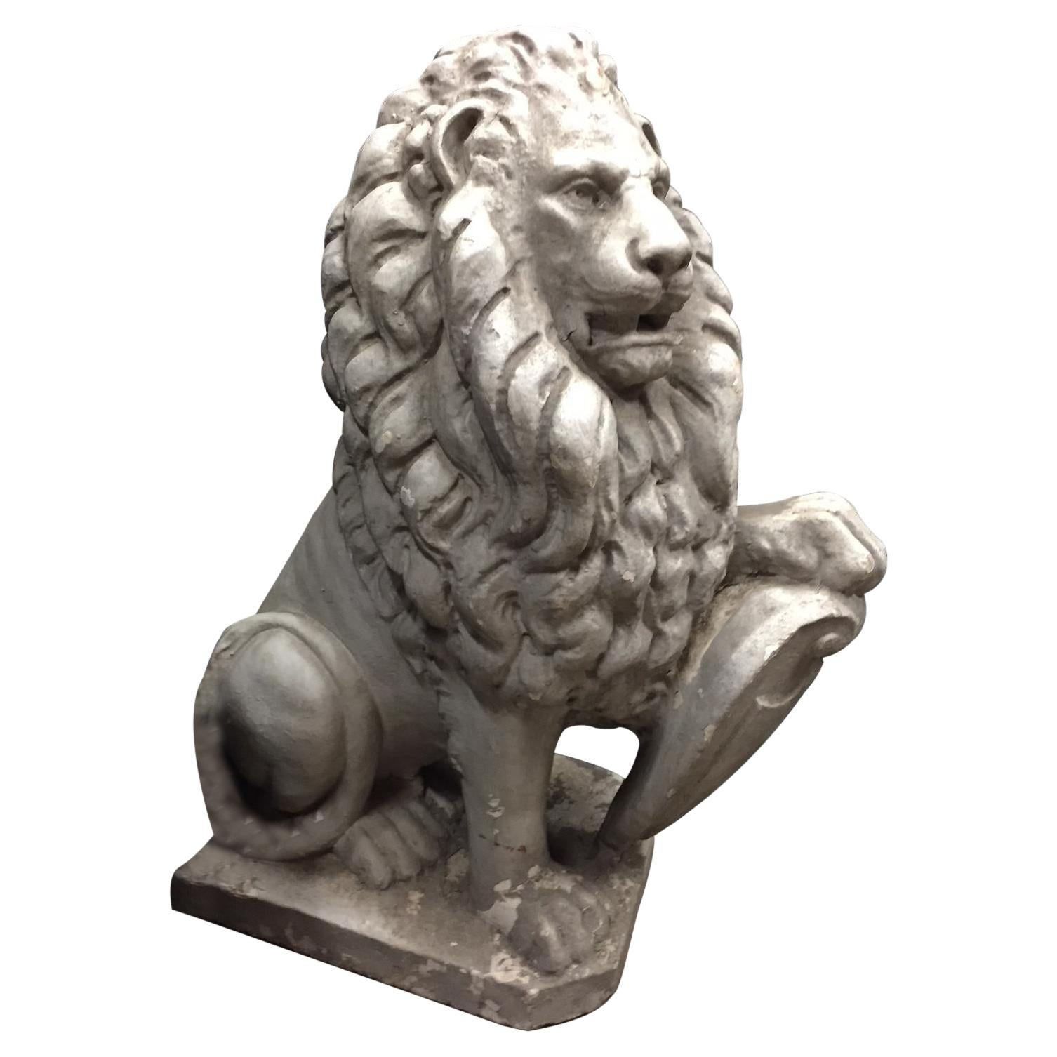 English Cast Stone Lion