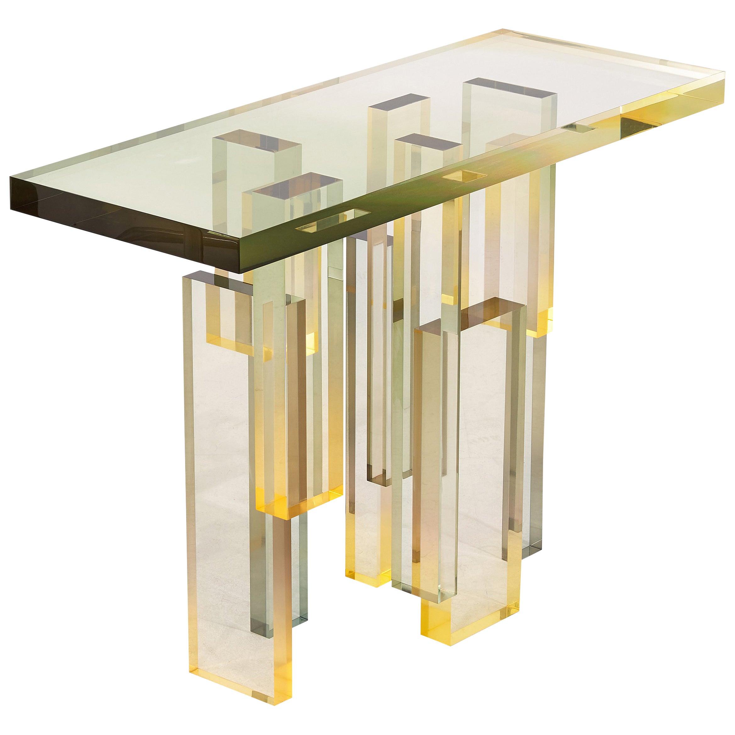 50% Balance, Crystal Series Custom Console Table