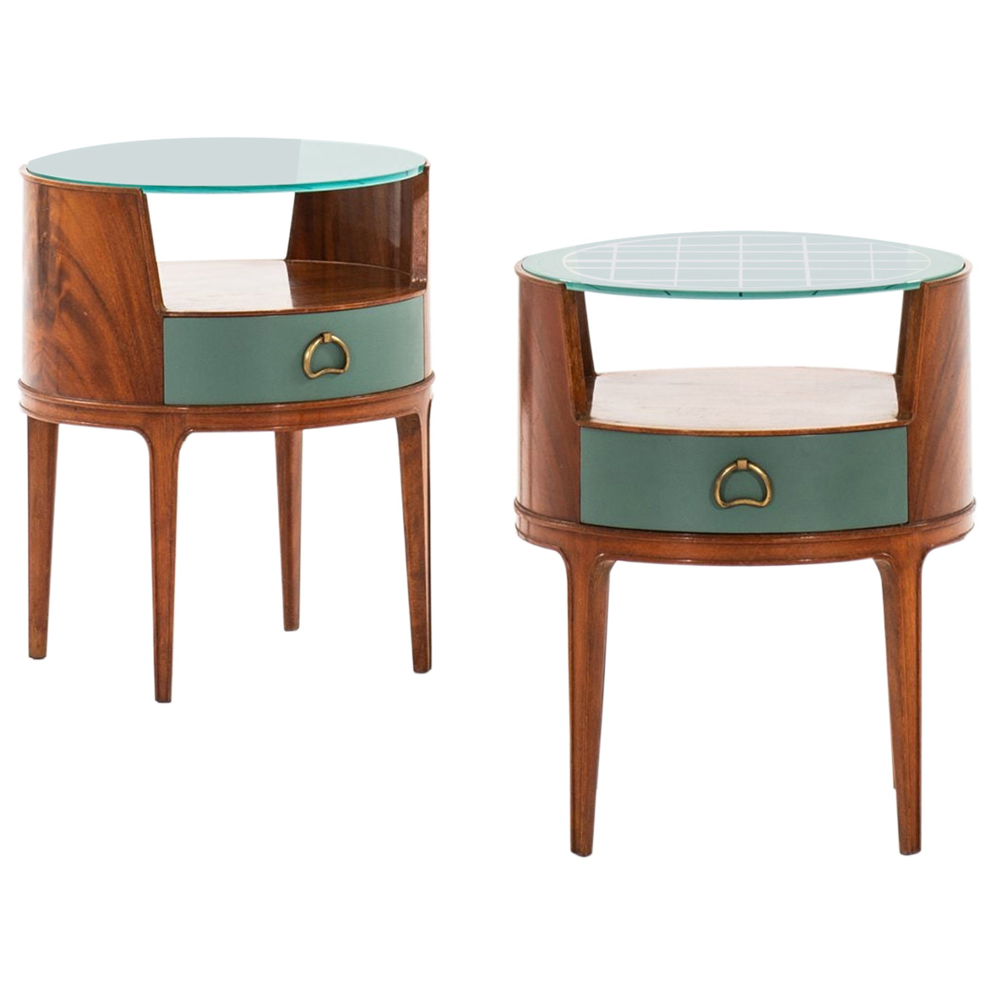 Axel Larsson Bedside Tables or Side Tables Produced by Bodafors in Sweden