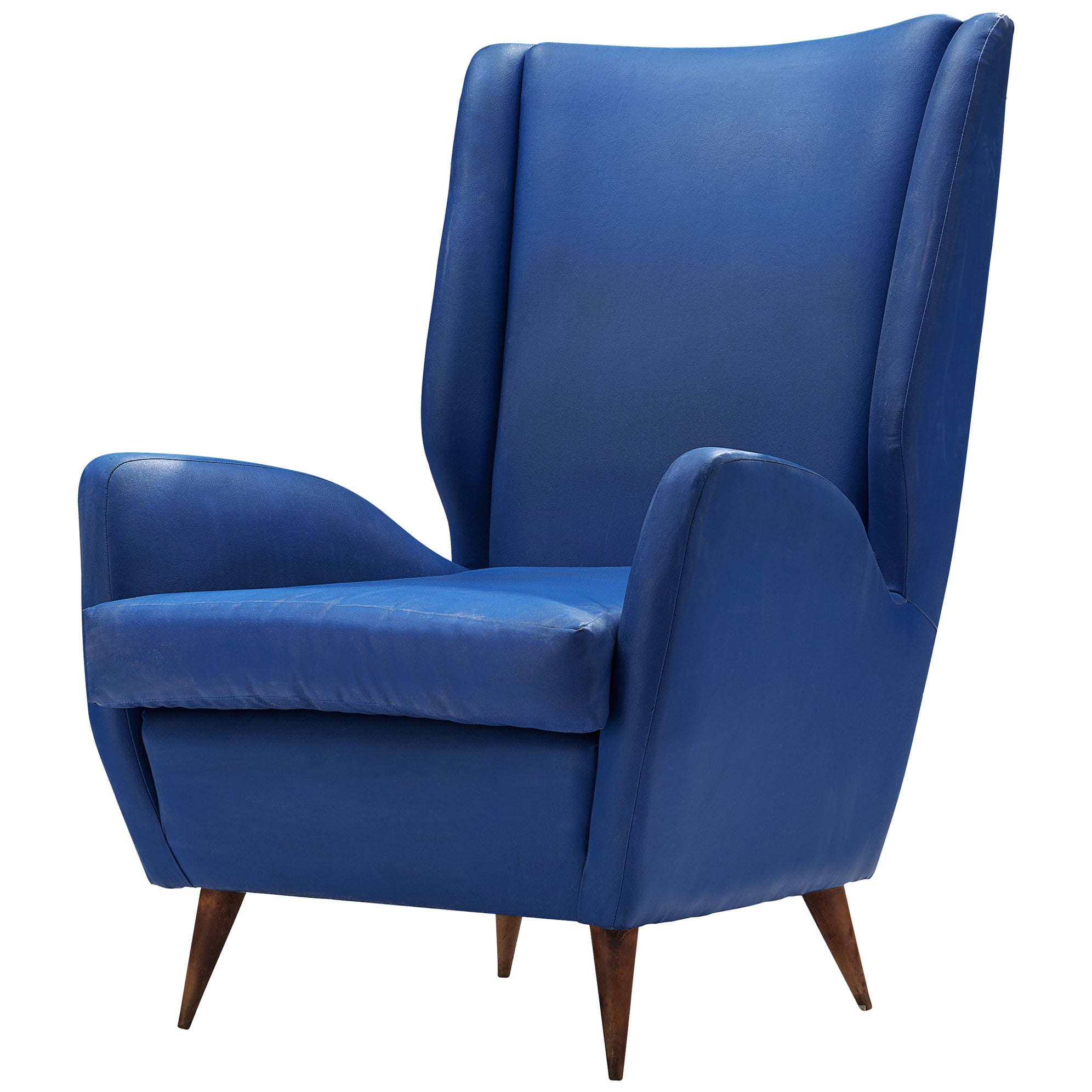 Italian High Back Lounge Chair