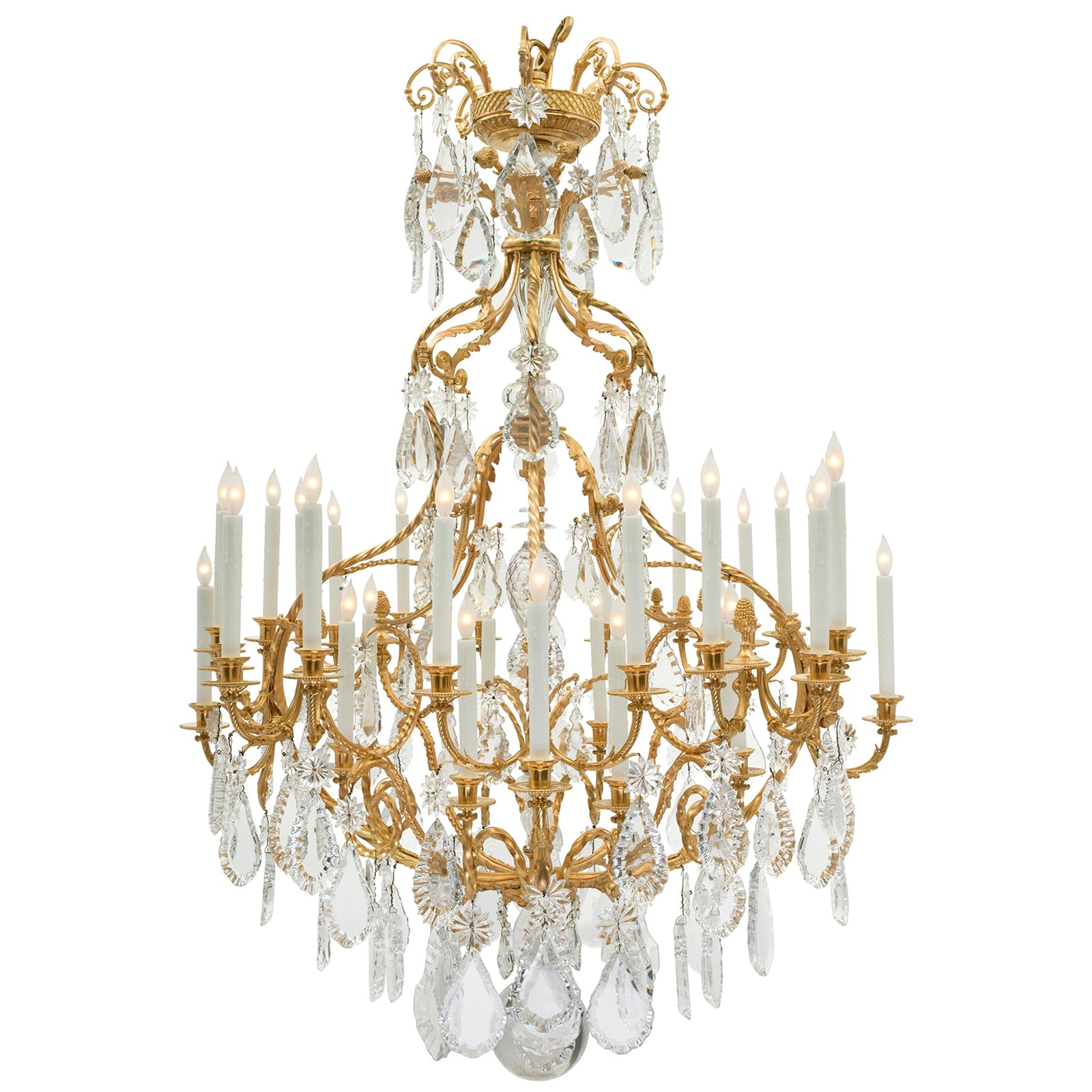 French 19th Century Louis XV Style Thirty Two Light Chandelier