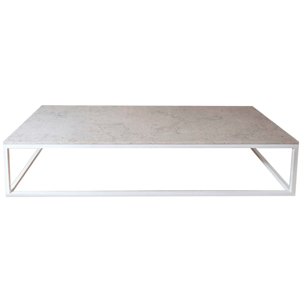 Lance Thompson Made to Order Stone Top & Solid Stainless Steel White Base Coffee