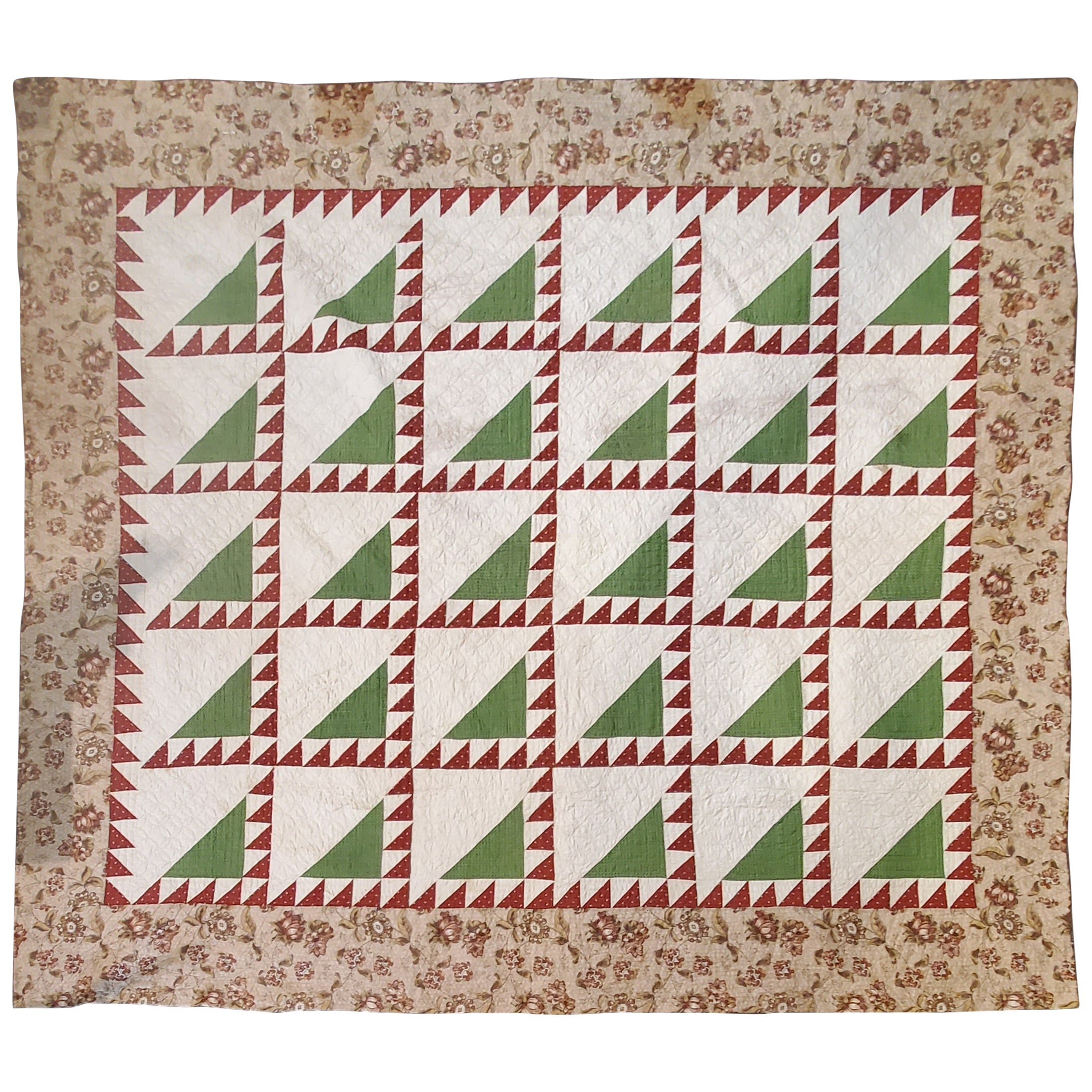 19th Century Lady of the Lake Quilt with Chintz Border