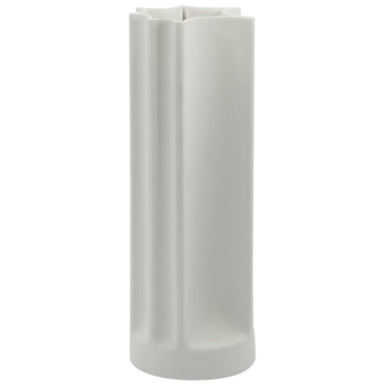 Danese Milano Bambù Medium Vase in White Ceramic by Enzo Mari