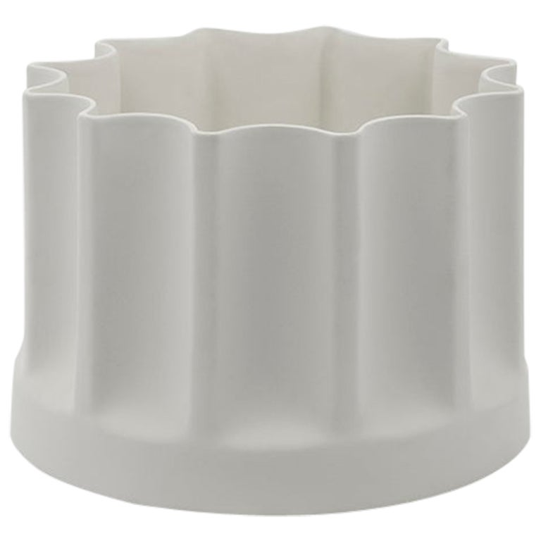 Danese Milano Bambù Extra Small Vase in White Ceramic by Enzo Mari