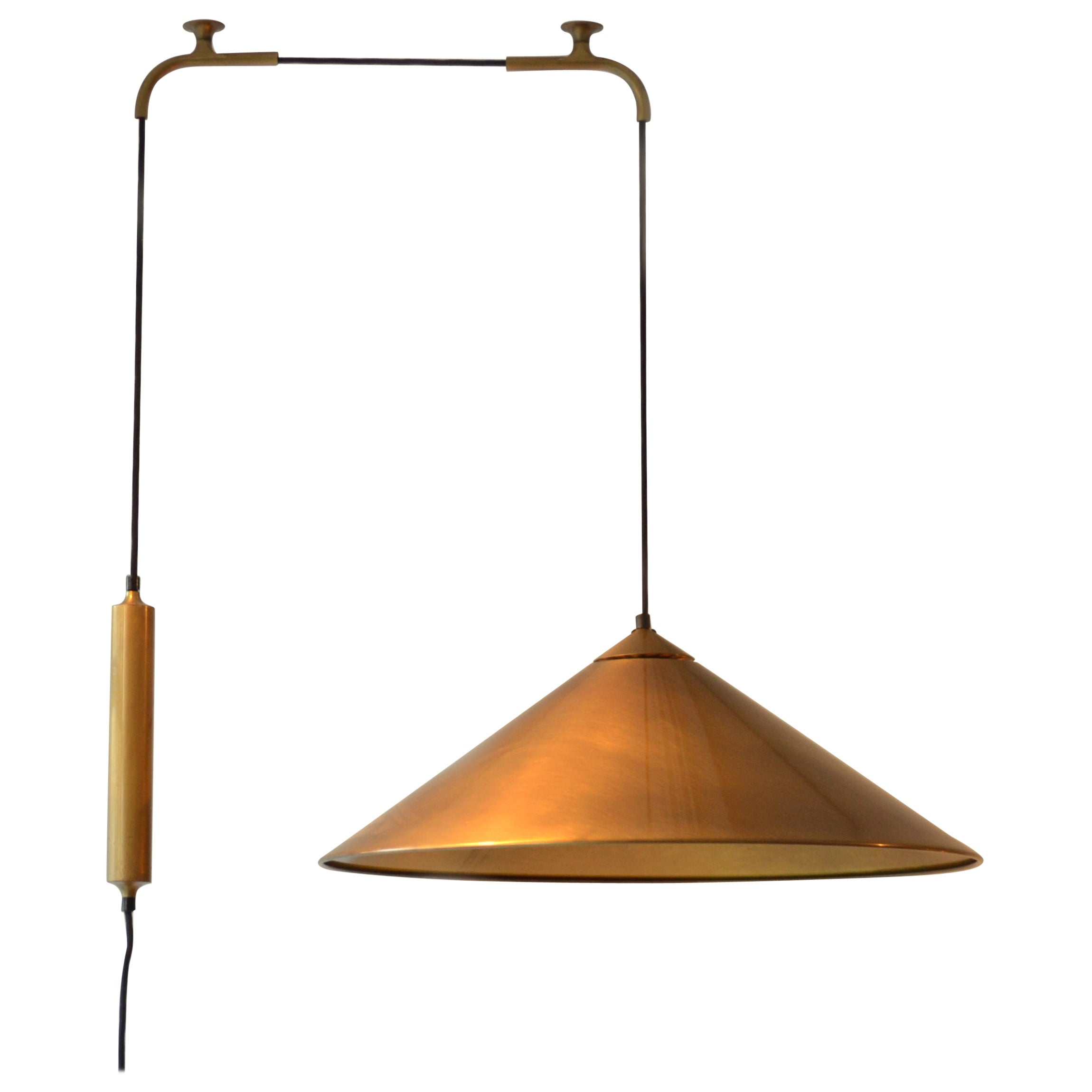 Counterbalance Brass Pendant 'Keos' Elongated Side Weight by Florian Schulz