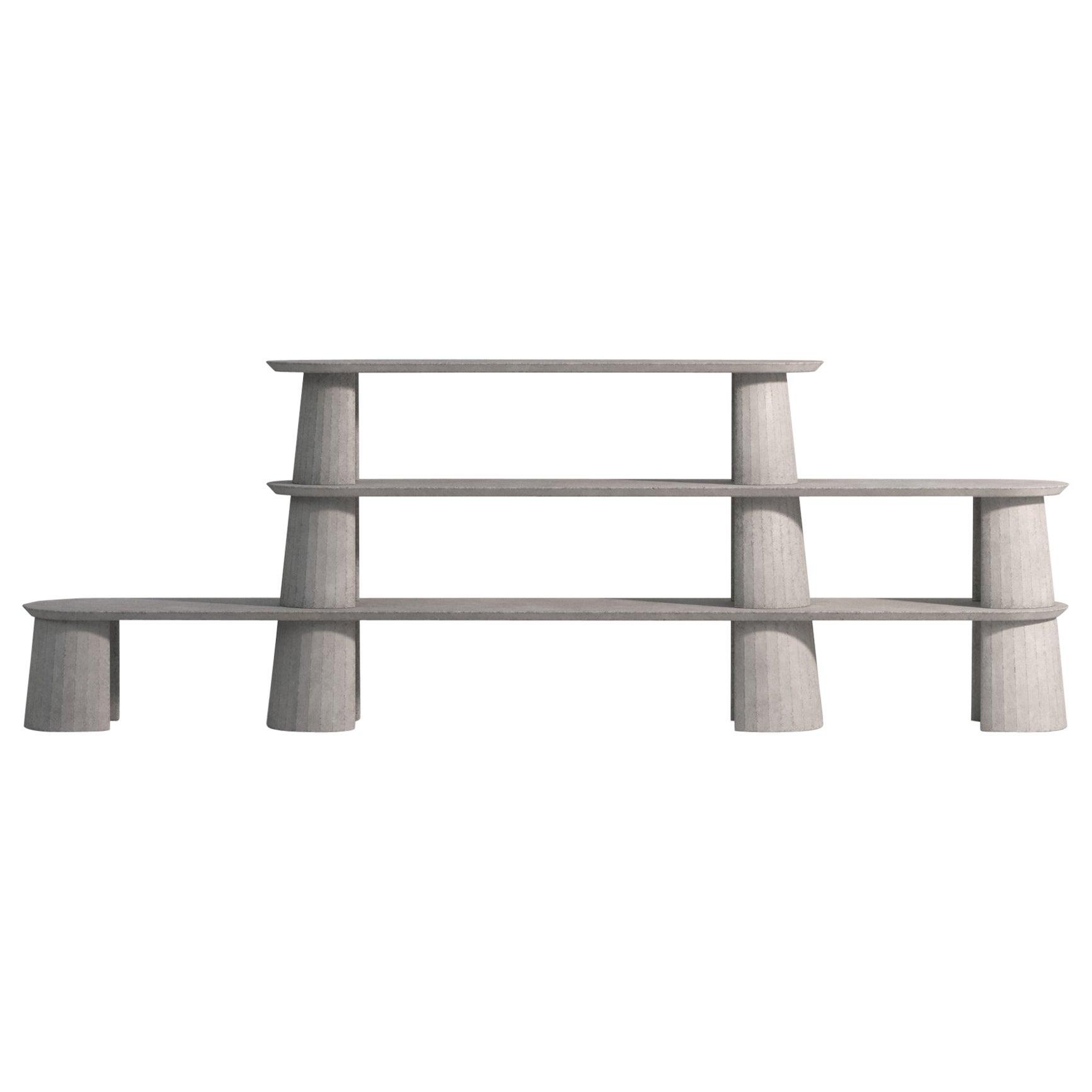 21st Century Studio Irvine Fusto Bookcase Mod.I Concrete Bookshelf Grey Cement