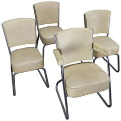 Set of Four Chrome Chairs