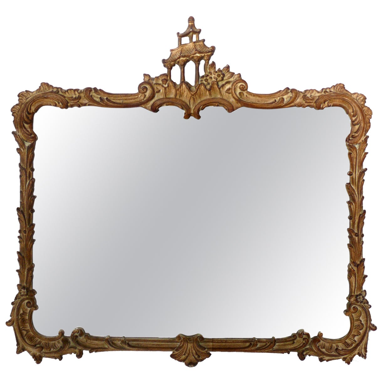 Gilt Chinoiserie Mirror, circa 1940s