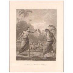 """Boxing Match in Hapaee from Cook's Voyages"" after John Webber"