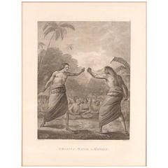 """""""Boxing Match in Hapaee from Cook's Voyages"""" after John Webber"""