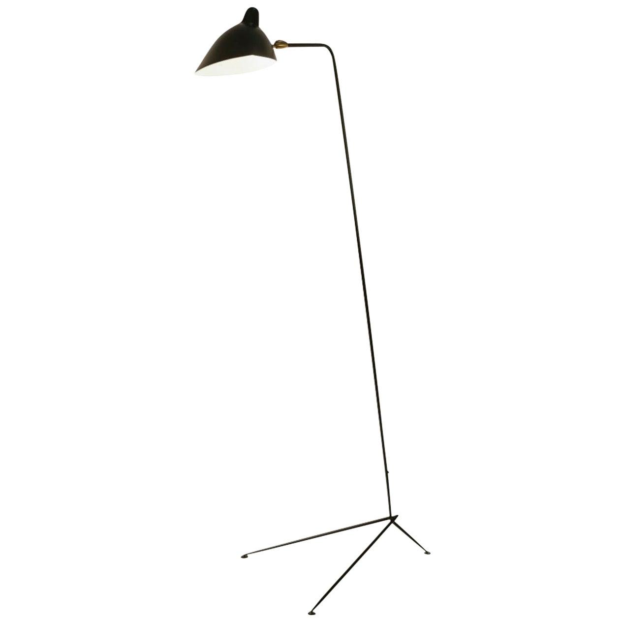 Editions Serge Mouille 'Lampadaire Droit' Floor Lamp