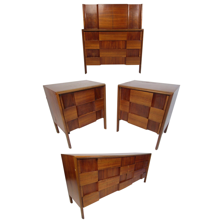 Mid-Century Modern Walnut Edmond Spence Bedroom Set