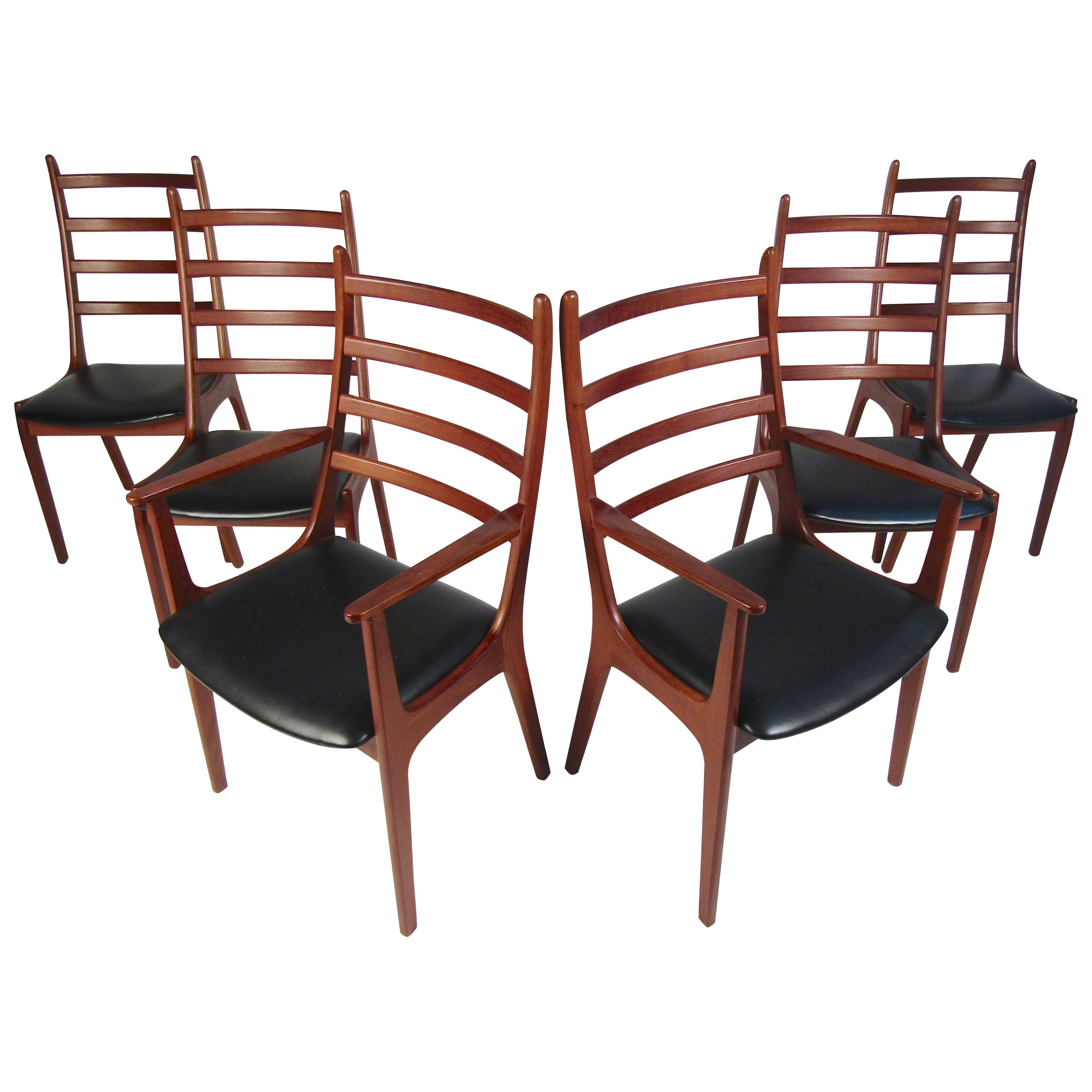 Set of Six Mid-Century Modern Danish K.S. Dining Chairs