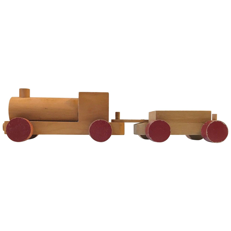 Vintage Wooden Toy Locomotive by Kay Bojesen, Denmark, 1960s