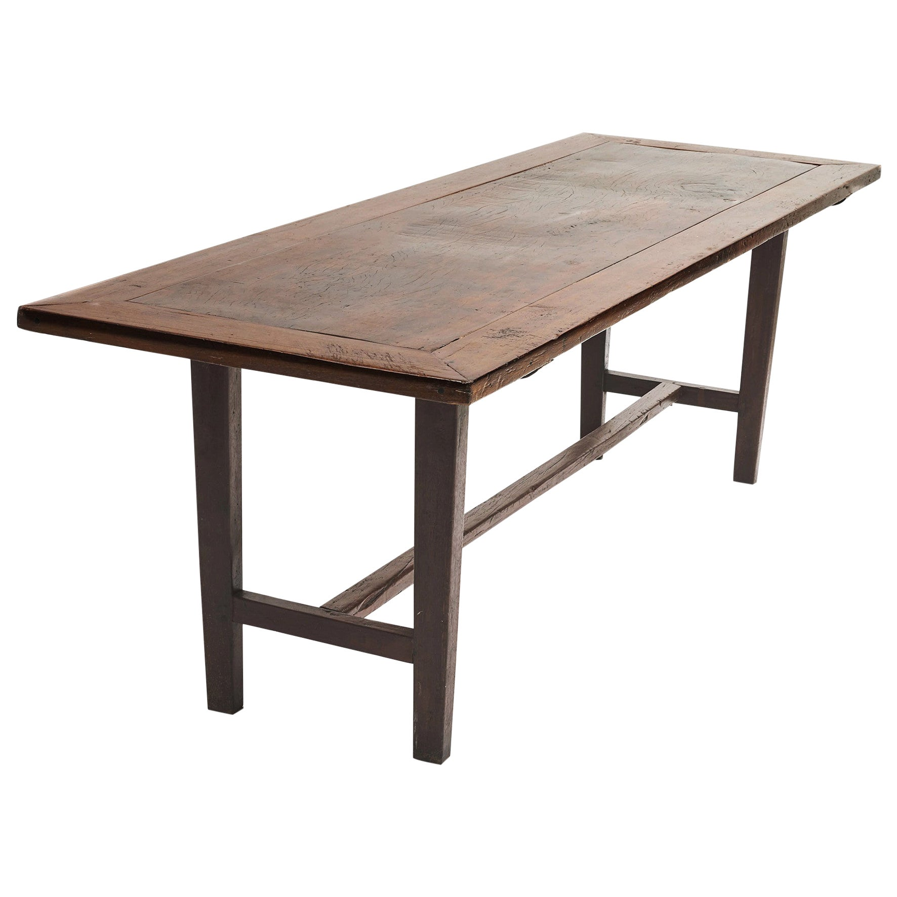 Spanish Colonial Long Table with H-Form Stretcher