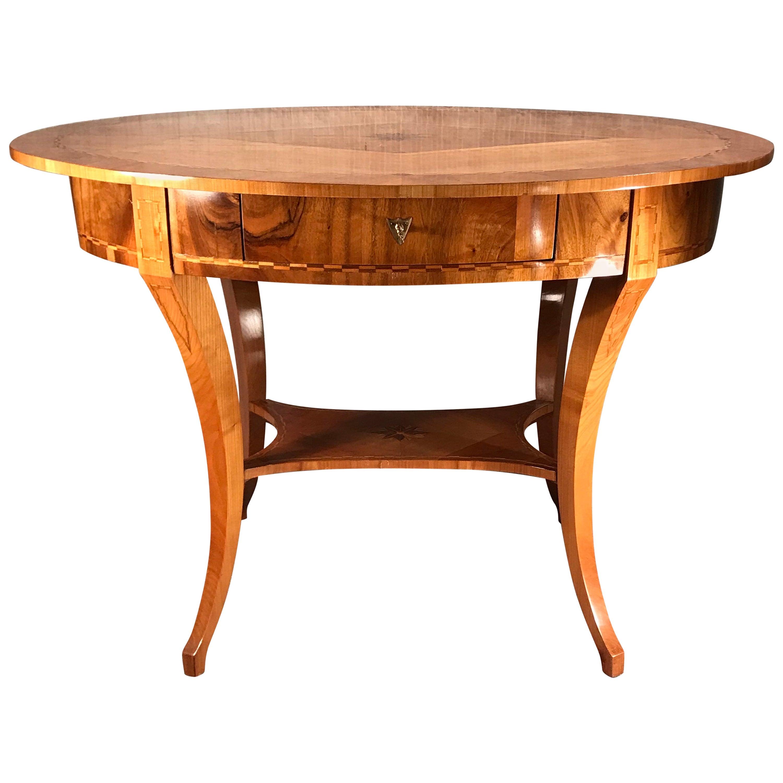 Biedermeier Desk or Side Table, South Germany 1820, Cherry Veneer