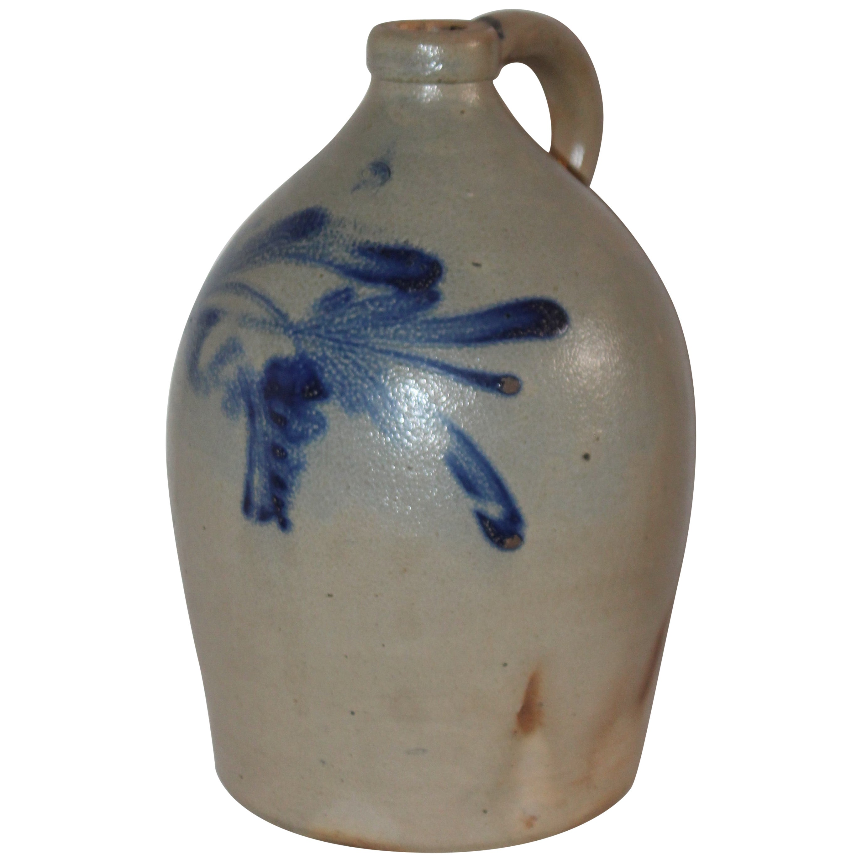 19th Century Cowden Wilcox Decorated Stoneware Jug