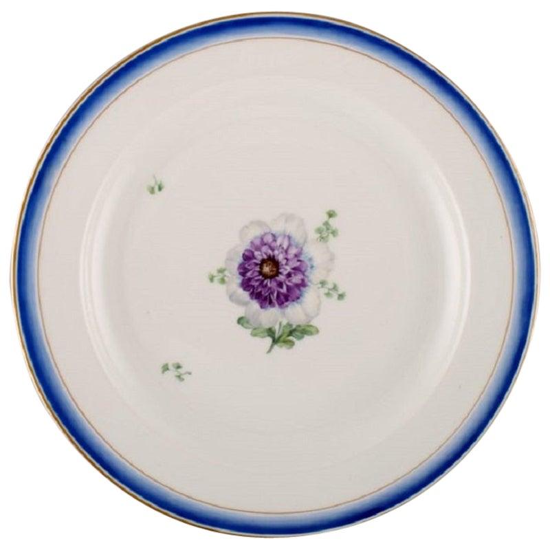 Large Round Antique Royal Copenhagen Dish in Hand Painted Porcelain