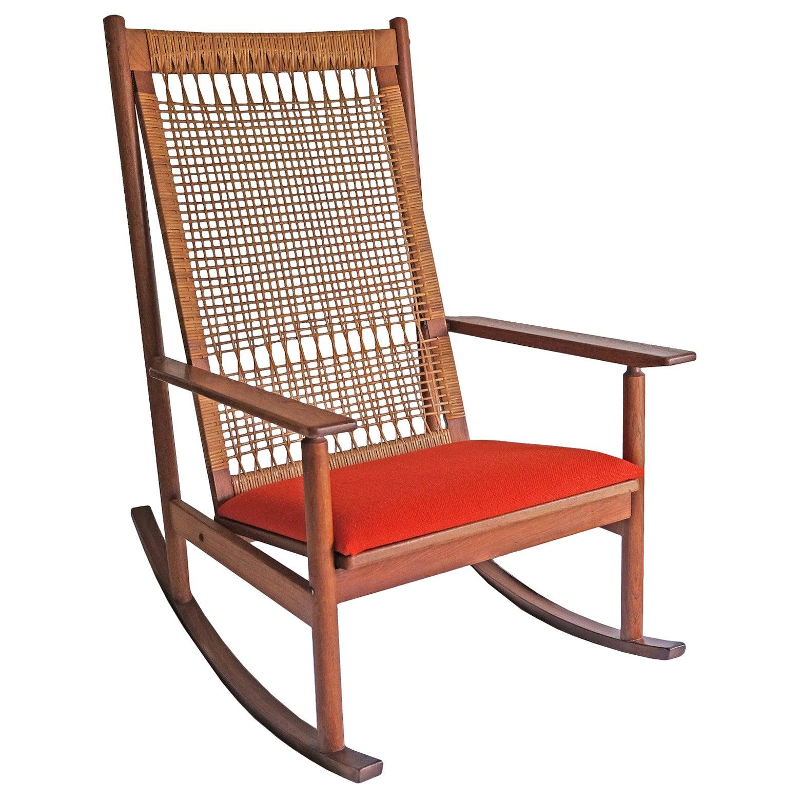 Hans Olsen, Rocking Chair, Juul Kristensen, 1960s