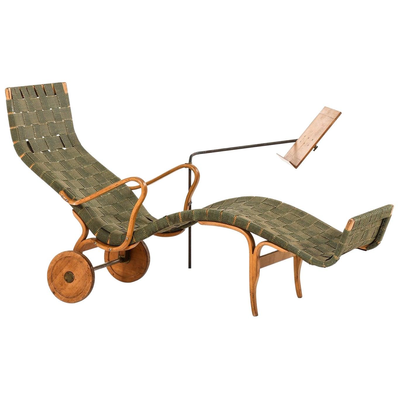 Bruno Mathsson Lounge Chair Model Pernilla Produced by Karl Mathsson in Värnamo