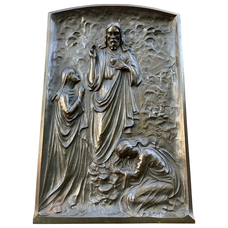Large, Solid Bronze Wall Sculpture / Plaque, the Resurrection of Jesus Christ