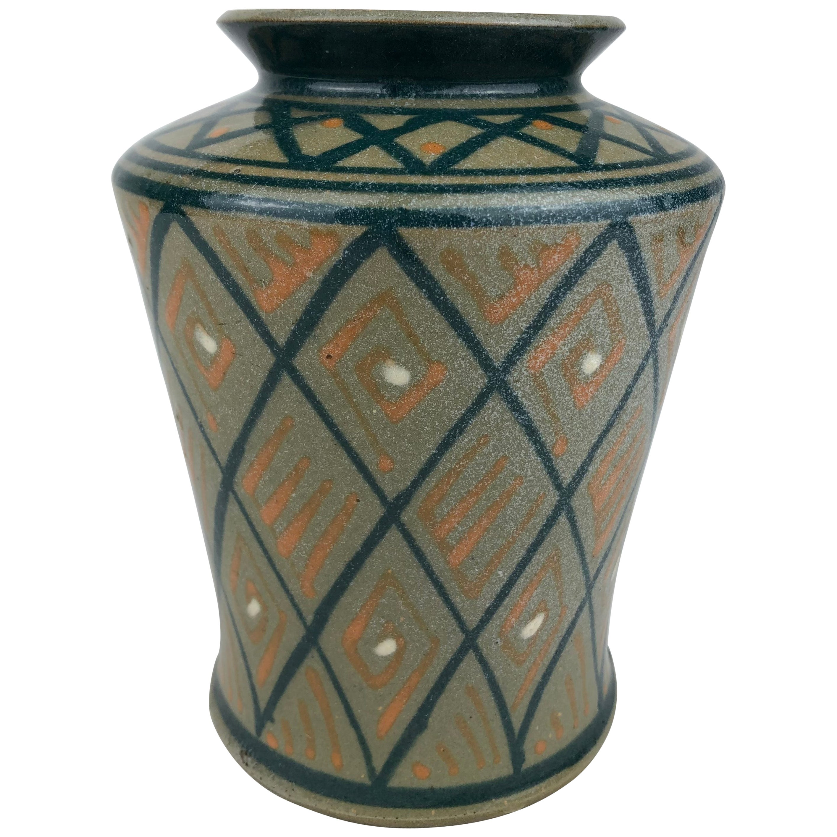 French Art Deco Ceramic Vase or Small Planter