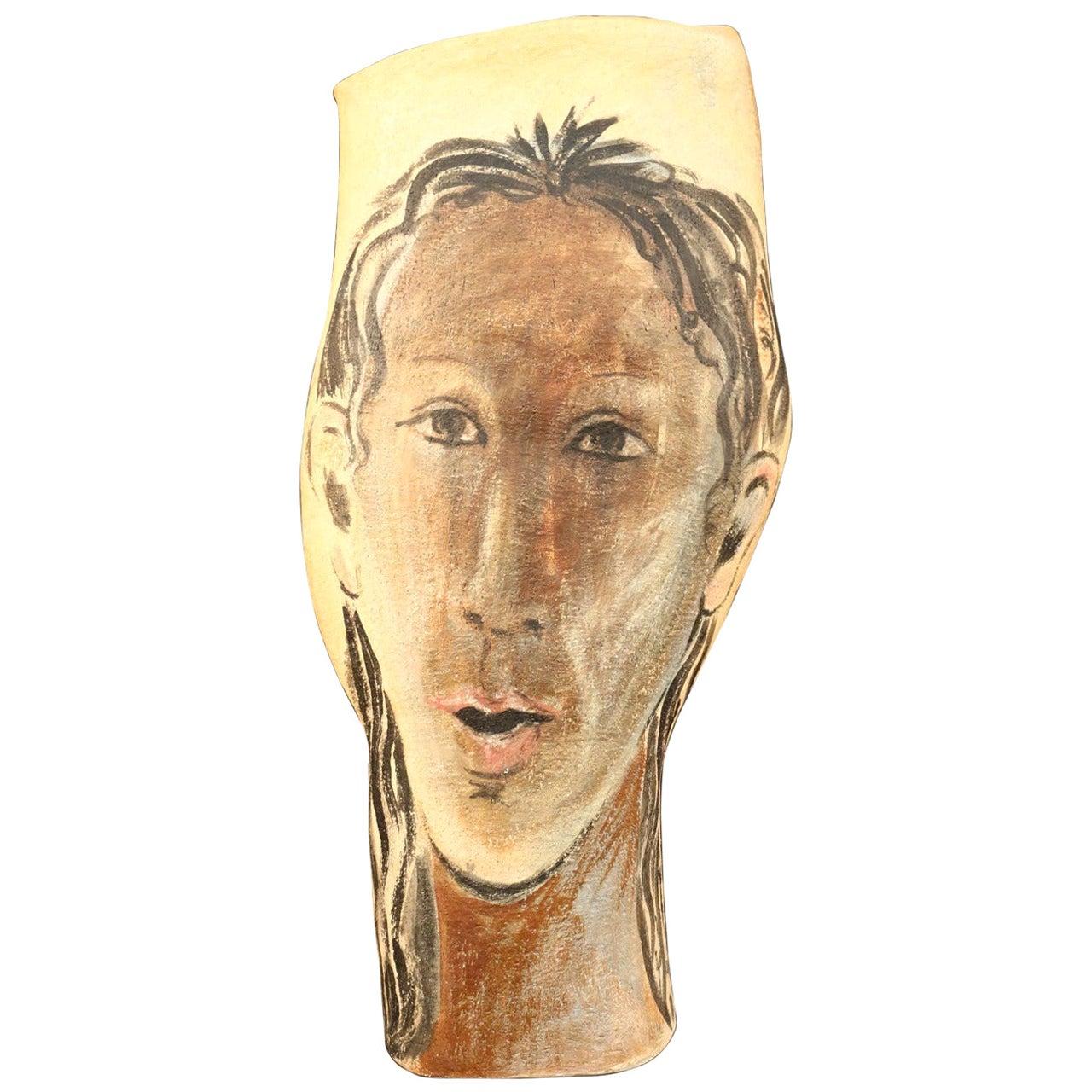 Umbrella Holder or Large Vase Signed Albert Poizat, 2002