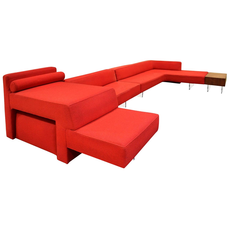 Vladimir Kagan Iconic Omnibus Collection Sofa and Table, 1975