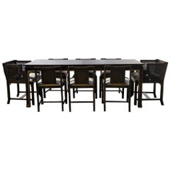 Otto Schultz for Boet Dining Set, Table and 10 Chairs