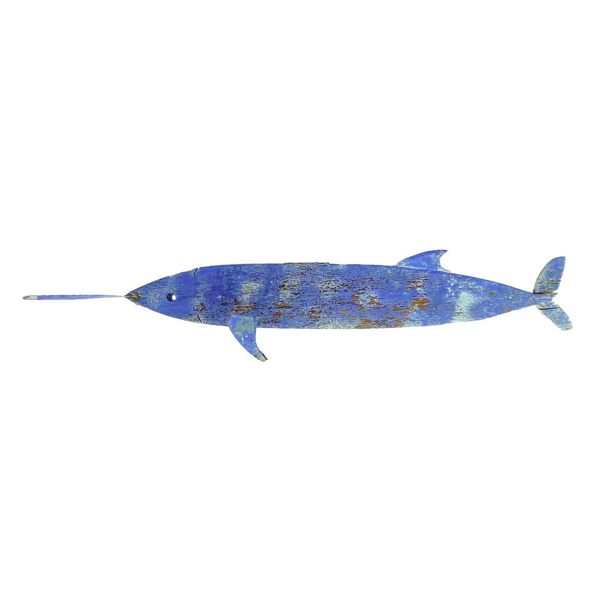 Carved and Painted Folk Art Swordfish Weathervane