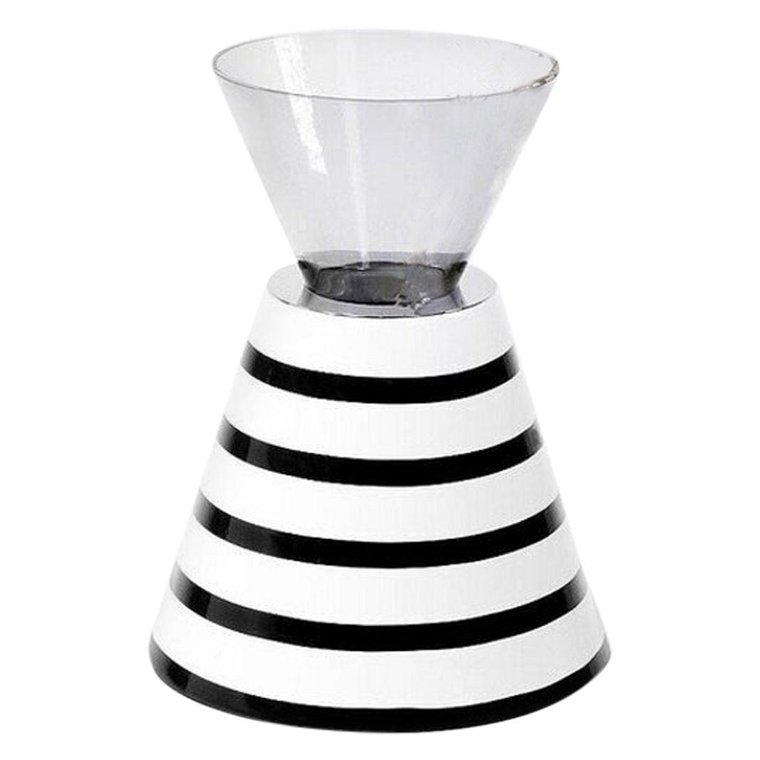 Contemporary Ceramic and Glass Vase