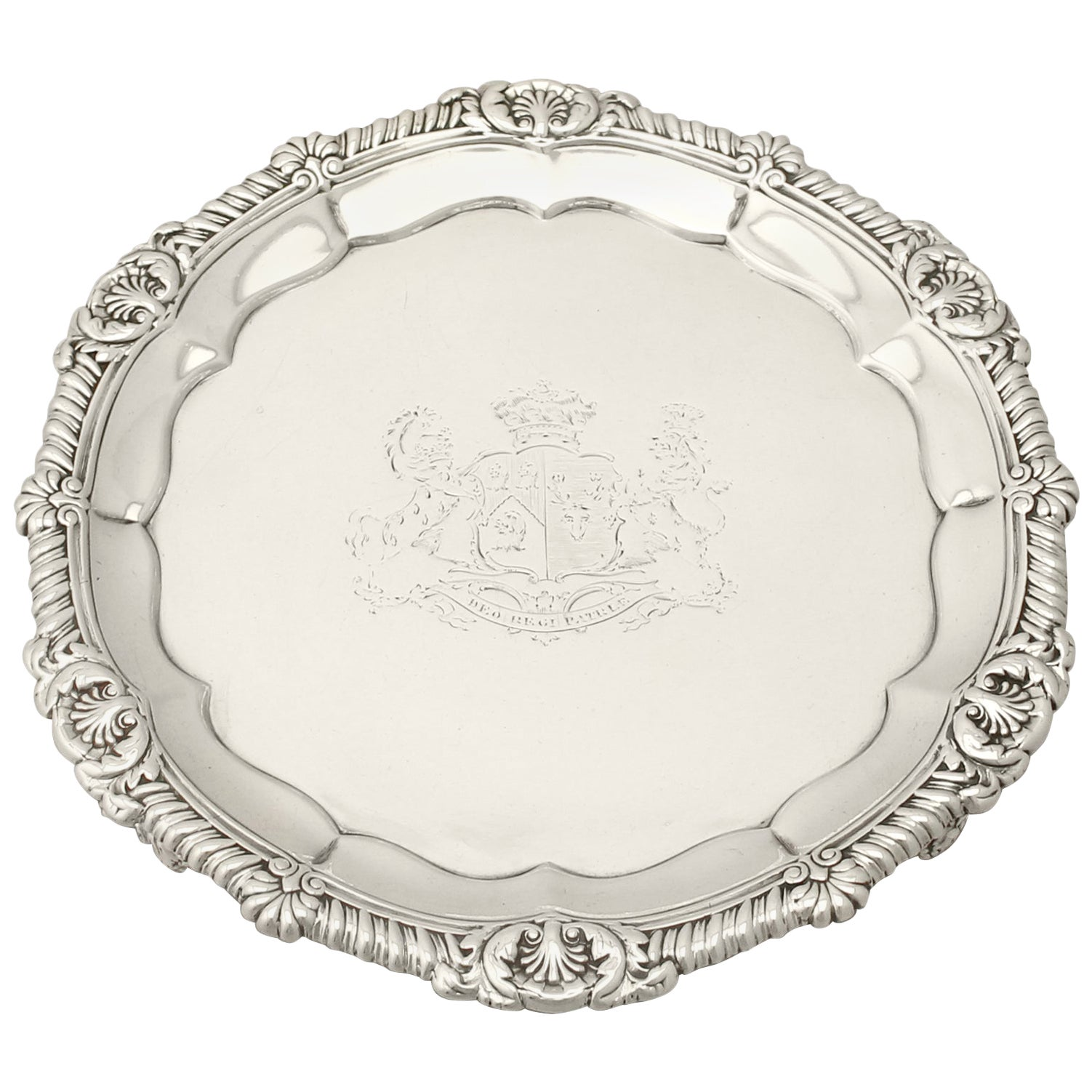 Antique George IV Sterling Silver Salver by Paul Storr