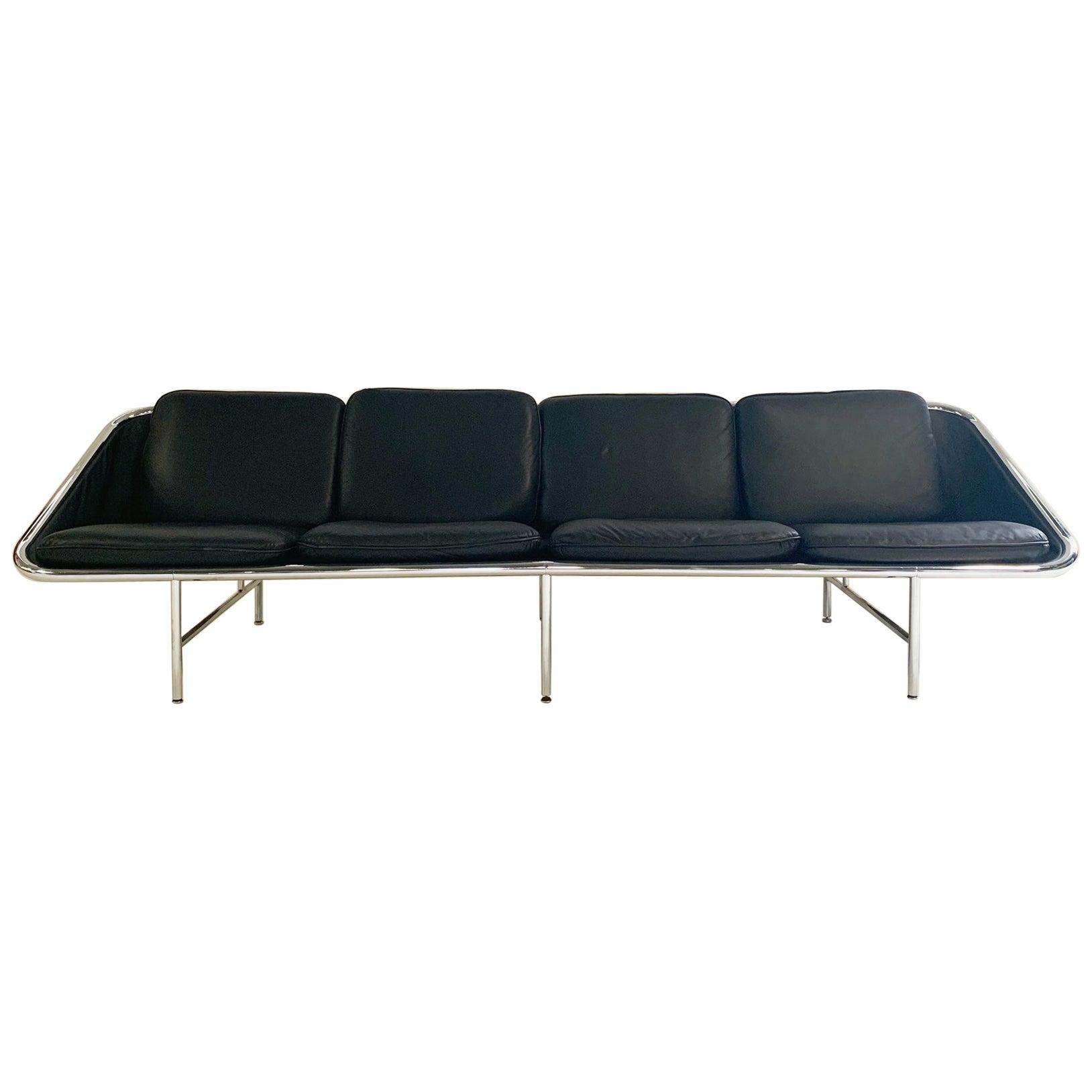 Model 6833 Leather Sling Sofa, George Nelson for Herman Miller