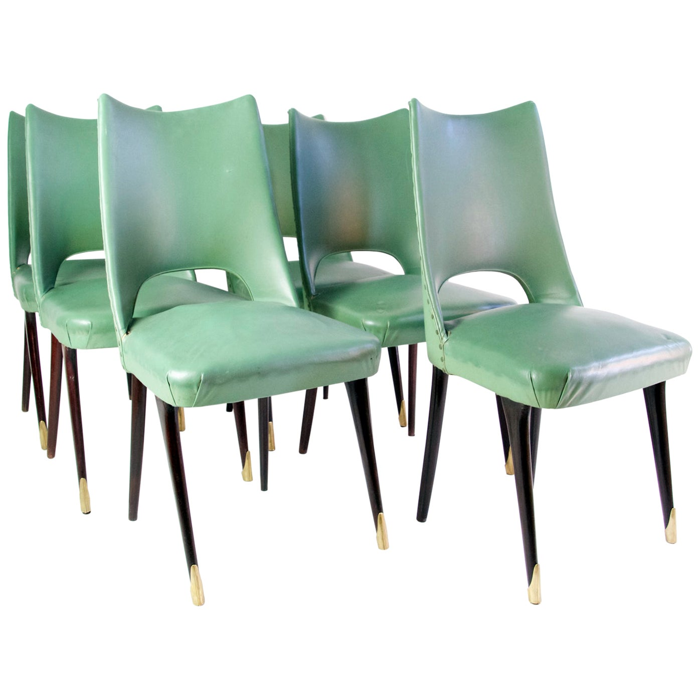Six Midcentury Italian Dining Chairs