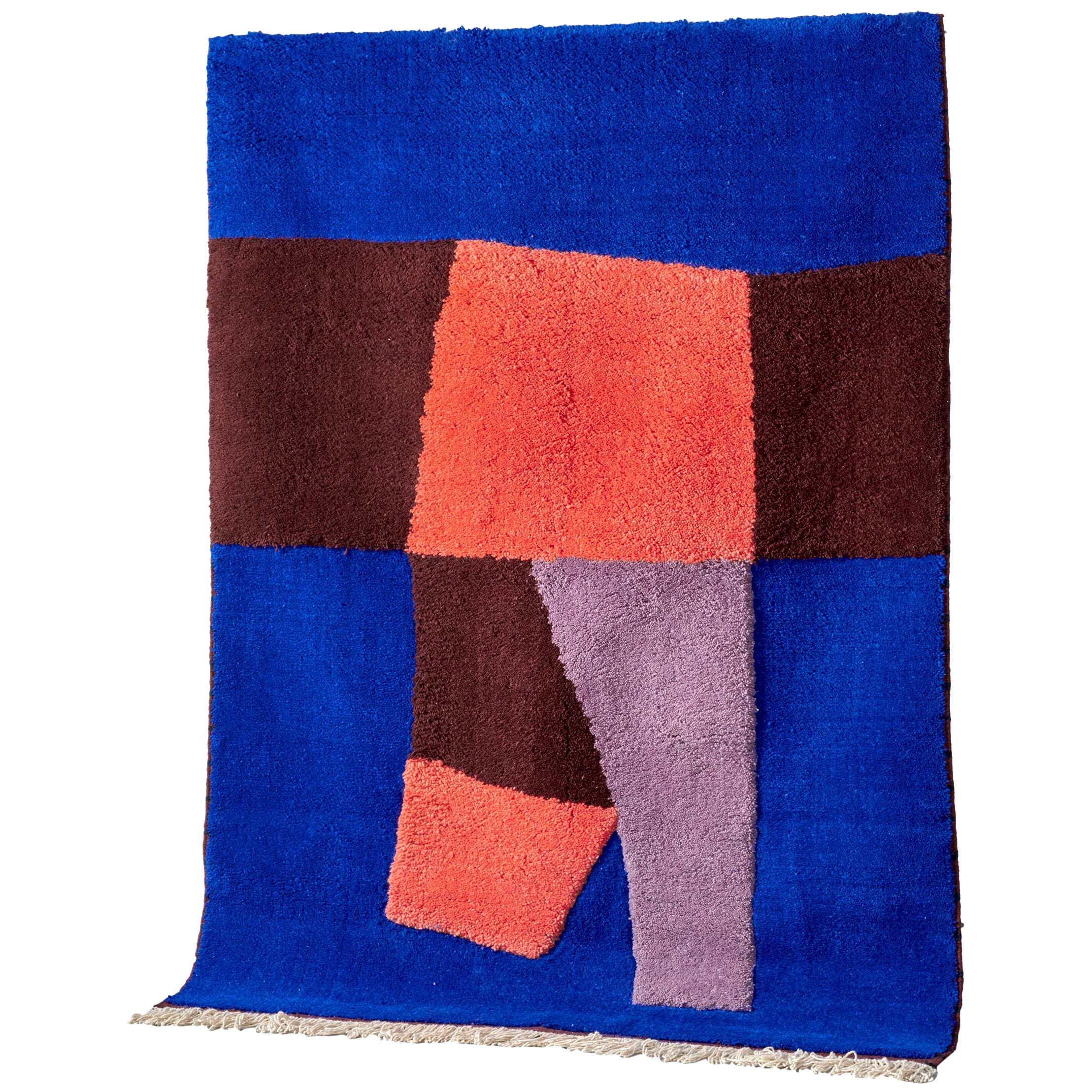 Moroccan Hand Knotted Wool Rug by Maria Jeglinska, 9ft x 12ft