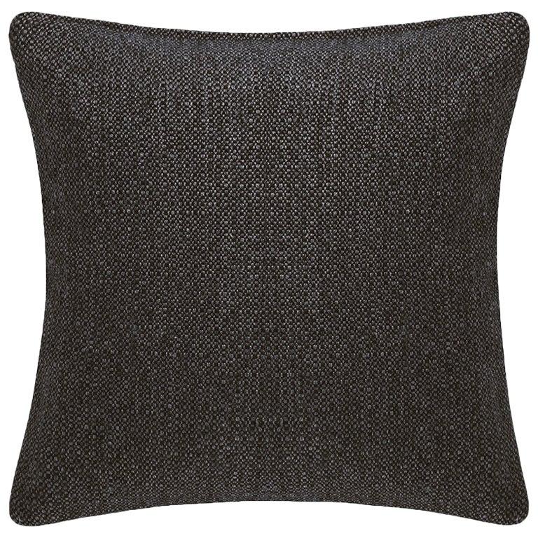 "Ben Soleimani Basketweave Pillow Cover - Espresso 26""x26"""