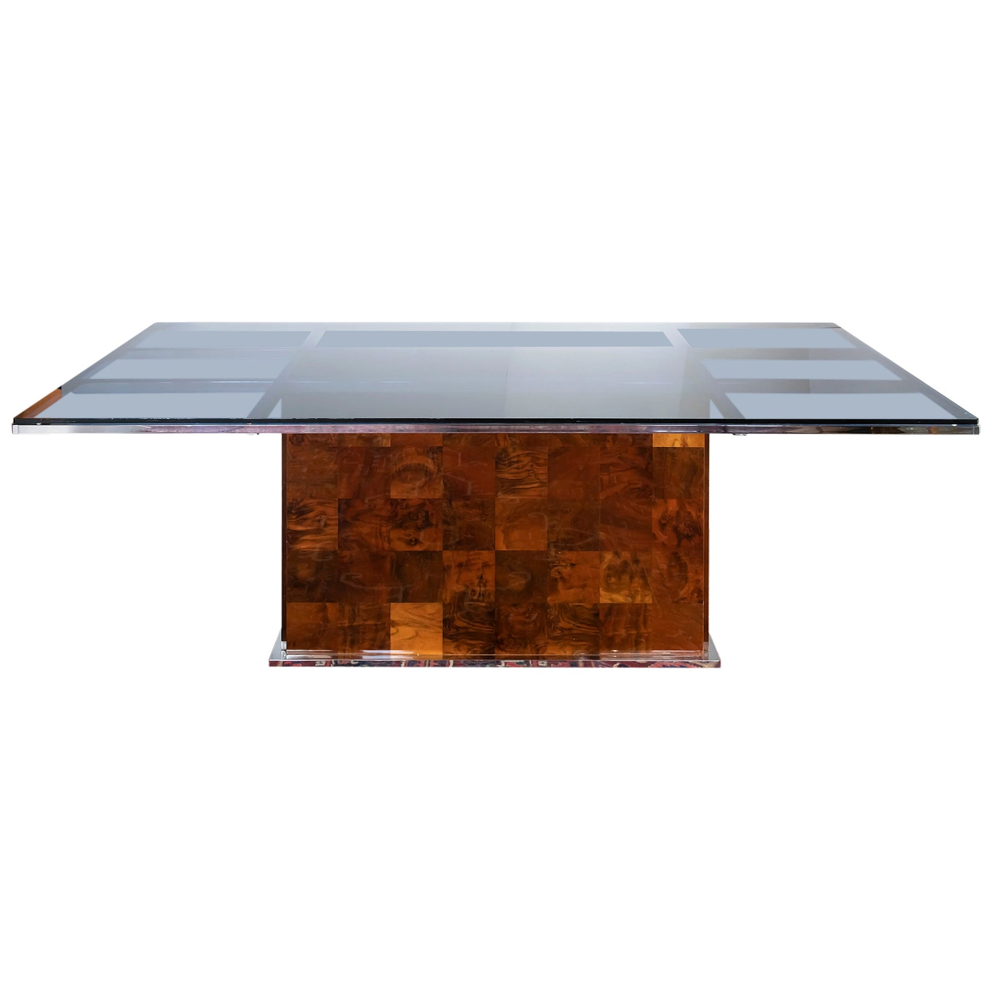 Midcentury Italian Dining Table by Willy Rizzo for Mario Sabot