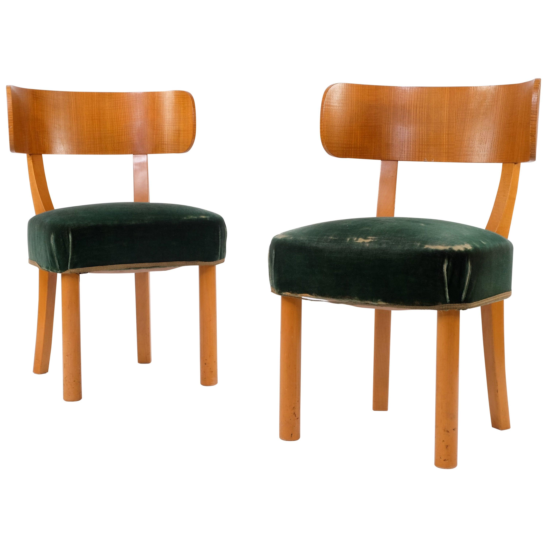 "Pair of Axel-Einar Hjorth ""Birka"" Chairs by Nordiska Kompaniet, 1930s"